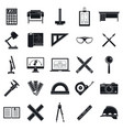 architect tool icons set simple style vector image