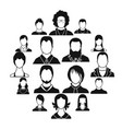 avatars set icons vector image