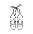 ballet shoes icon vector image