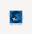 banner for air transportation with planet earth vector image vector image
