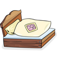 bed furniture cartoon vector image vector image