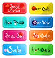 Best Choice - Crazy Sale - Hot price - Buy Now vector image vector image