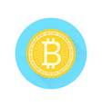 bitcoin flat icon on white background vector image