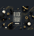 black friday black and gold template design vector image vector image