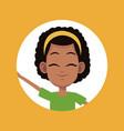 cartoon girl child avatar vector image
