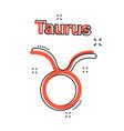cartoon taurus zodiac icon in comic style vector image vector image