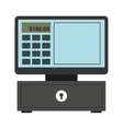 cash register isolated icon design vector image vector image