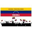 Cheering or Protesting Crowd Venezuela vector image vector image
