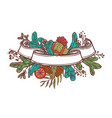 christmas color ribbon banner for text vector image vector image
