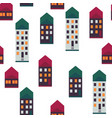 city houses seamless pattern vector image