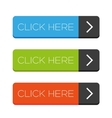 Click Here button set vector image vector image