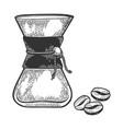 coffeemaker sketch engraving vector image