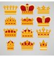 Crown icons flat royal set vector image vector image
