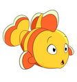 cute cartoon clownfish vector image vector image