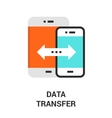 data transfer icon vector image vector image