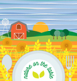 Flat design of vegetarian food healthy eating vector image vector image