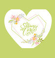 flower greeting card with text spring time vector image vector image