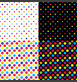 four different seamless colorful polka dot pattern vector image vector image