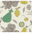 fruit drawing wallpaper vector image vector image