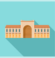 gate city historical building icon flat style vector image