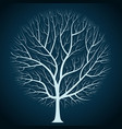graphic design bright tree silhouette on a dark vector image vector image