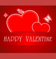 greeting valentine paper card with lettering vector image
