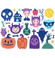 halloween cute elements vector image vector image