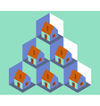 House Pattern vector image vector image
