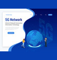 isometric 5g network wireless systems and internet vector image vector image