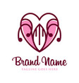 love outline symbol logo design your company vector image