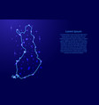map finland from the contours network blue vector image vector image