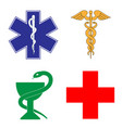 medical symbol of the emergency vector image
