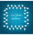 merry christmas and new year banner with lights vector image vector image