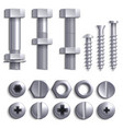 metal screws steel bolts nuts nails and rivets vector image vector image
