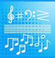 notes set music concert banner colorful modern vector image