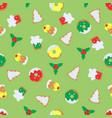 pattern christmas symbols vector image