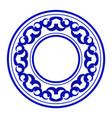 porcelain round frame vector image vector image