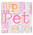 Protect your pets from the pound text background vector image vector image