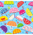 seamless pattern with colorful umbrellas vector image vector image