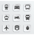 Simple transport icons set vector image vector image