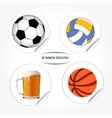 sport stickers vector image