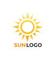 sun logo element icon vector image vector image