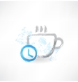 Time to drink coffee grunge icon vector image vector image