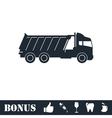 Tipper truck icon flat vector image