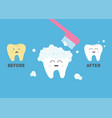 toothbrush with toothpaste bubble foam healthy vector image vector image