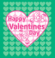 valentines day background card green vector image vector image