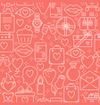 valentines day romantic seamless pattern vector image vector image