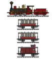 vintage red steam train vector image vector image