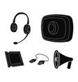 webcam headphones usb cable processor personal vector image vector image