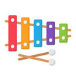 xylophone flat icon music and instrument vector image vector image